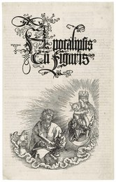 The Virgin and Child appearing to Saint John, title page for: The Apocalypse