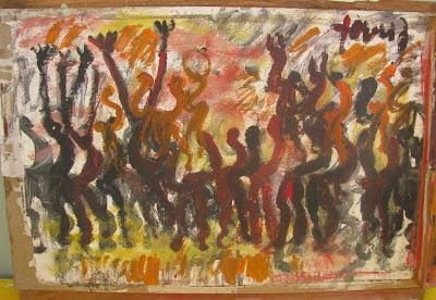 Purvis Young, 'Purvis Young, Freedom, Painting on Paper on Wood', ca. 1990, Hedges Projects
