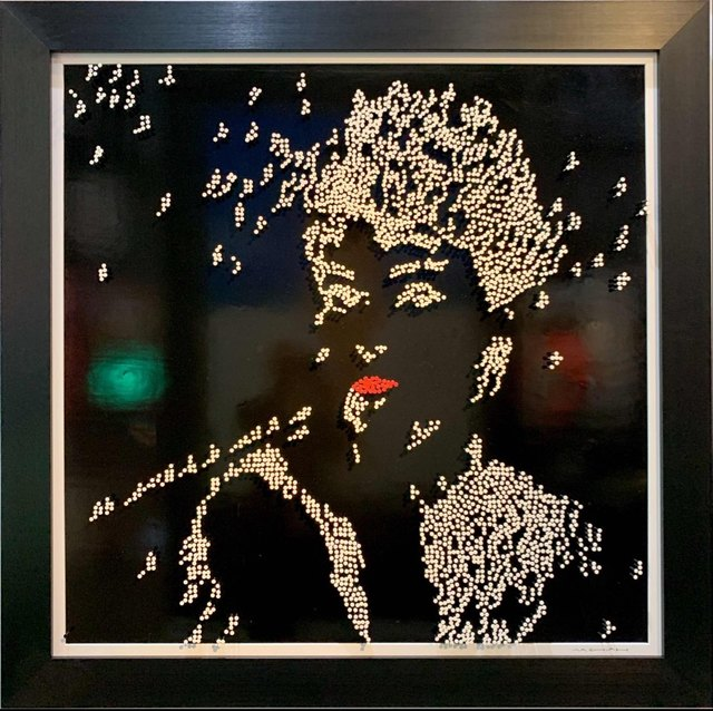 Efraim Mashiah, 'Audrey Hepburn - Black Background', 2019, Elena Bulatova Fine Art