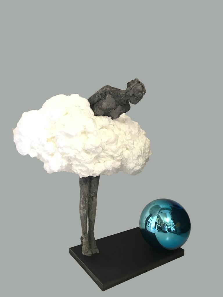 Jardin Figurine-Chouette en pierre-optique-Deco statue jardin personnage