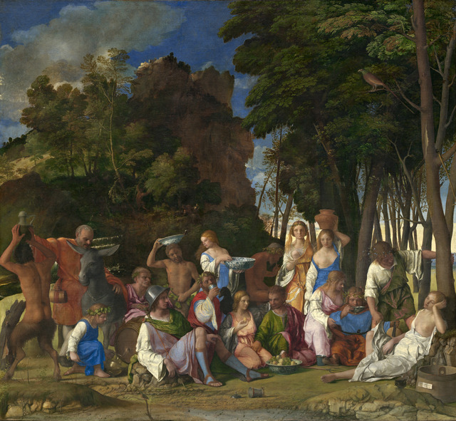 Giovanni Bellini, 'The Feast of the Gods', 1514/1529, Painting, Oil on canvas, National Gallery of Art, Washington, D.C.