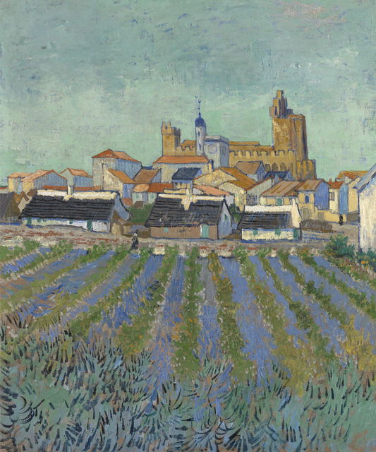 , 'View of Saintes-Maries-de-la-Mer,' 1888, National Gallery of Victoria