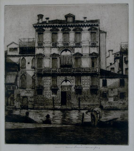 Mortimer Menpes, 'Palazzo, Venice', ca. 1910, Private Collection, NY