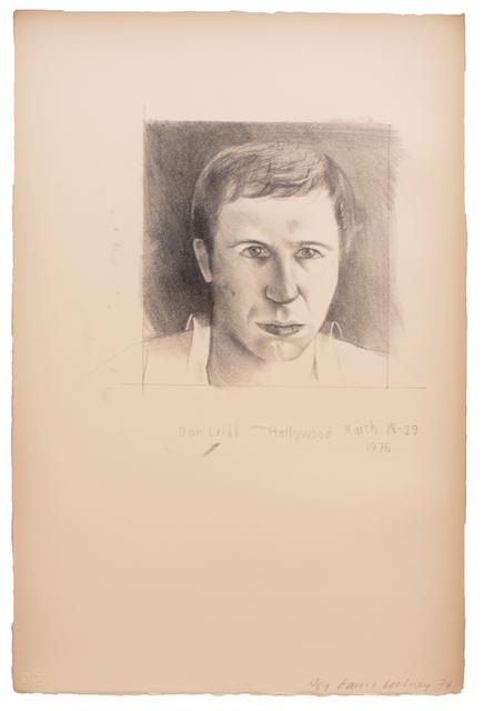 David Hockney, 'Don Cribb', 1976, Print, 1 color lithograph, Gemini G.E.L.