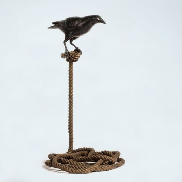 , 'Harold, the magpie on short rope (available in red patina & black patina),' , Art Acacia