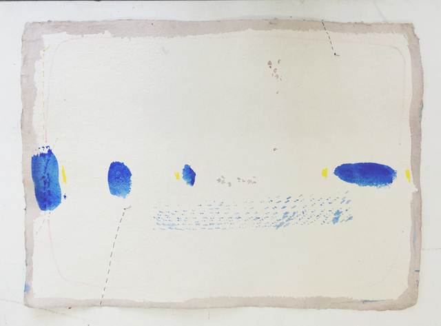 , 'strange blue,but when you look at them longer,' 2015, GALERIE OVO