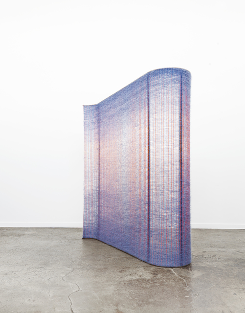 , 'Neon Orange and Periwinkle Wall,' 2016, Chamber
