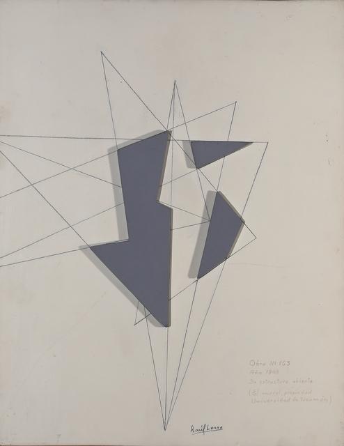 , 'Maqueta estructural Nº 163,' 1948, Del Infinito