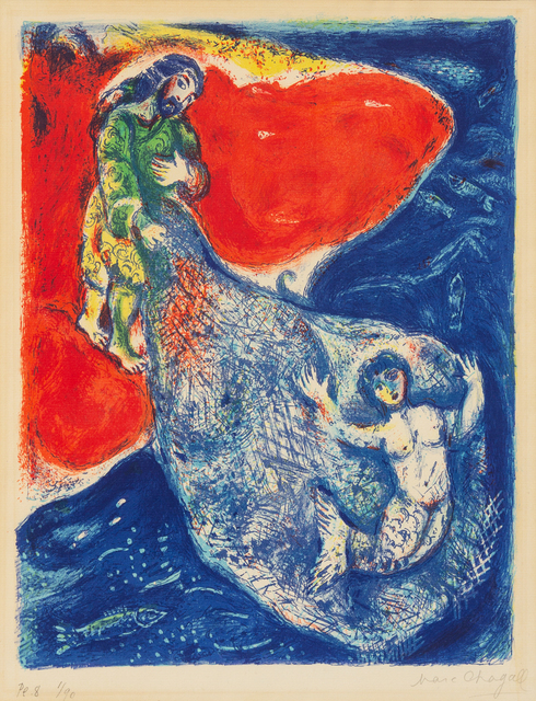 Marc Chagall, 'When Abdullah got the Net Ashore... from Four Tales From the Arabian Nights', 1948, Hindman