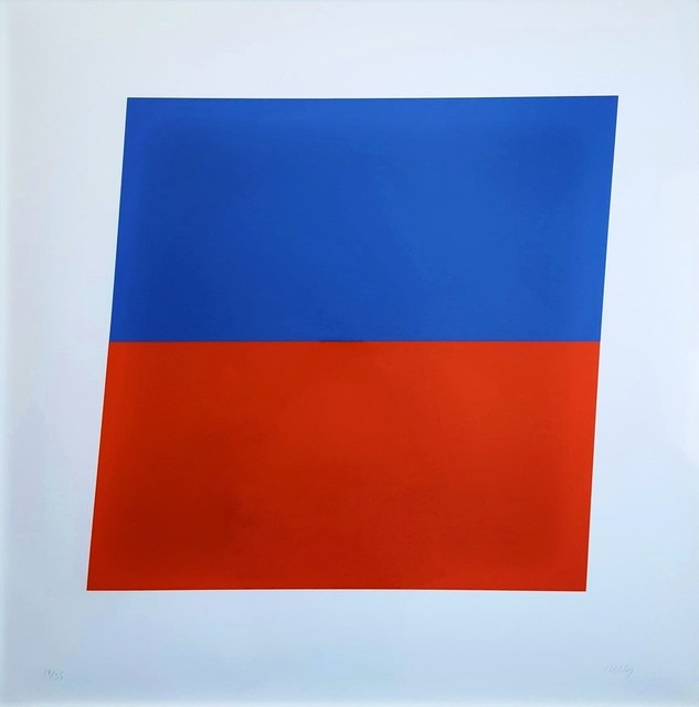 Ellsworth Kelly, 'Blue/Red-Orange', 1972, Print, Lithograph, Graves International Art