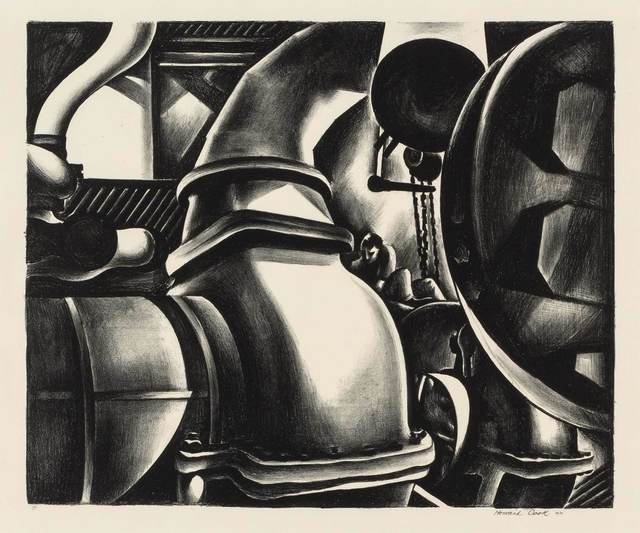 Howard N. Cook, 'ENGINE ROOM (D. 128)', 1930, Print, Lithograph, Doyle