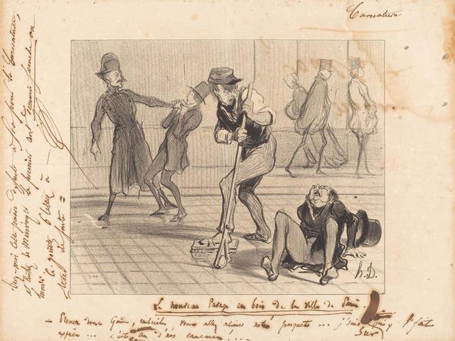 Honoré Daumier, 'Le Nouveau pavage en bois... de Paris', 1842, National Gallery of Art, Washington, D.C.