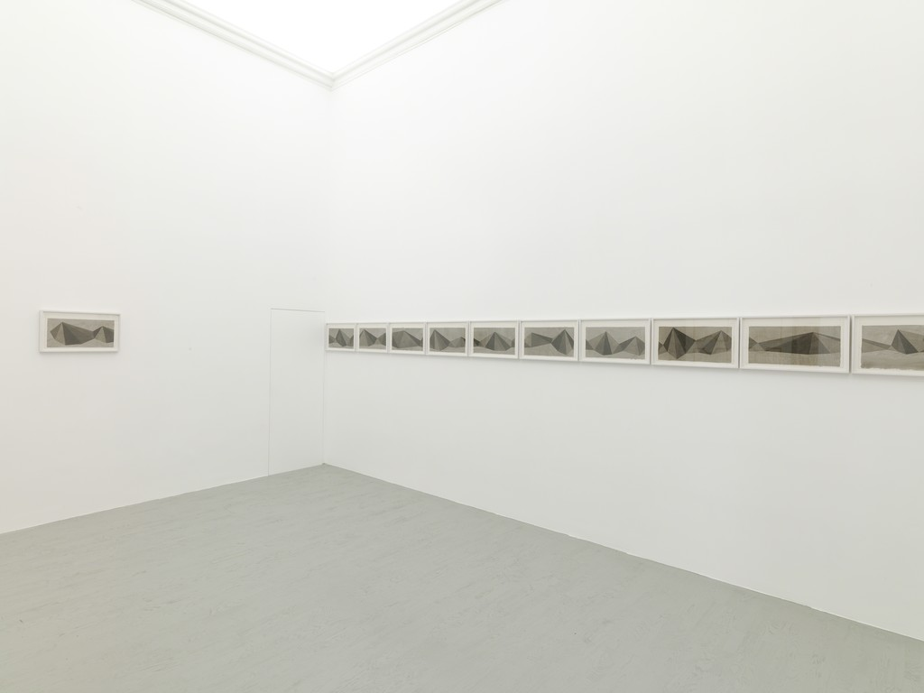 Sol LeWitt - pyramids, 1986 -  partial view of the exhibition - November 2012 - Galleria Alfonso Artiaco, Napoli