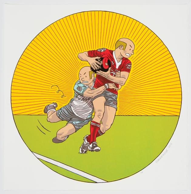 , 'Rugby,' 2013, Galerie Ernst Hilger