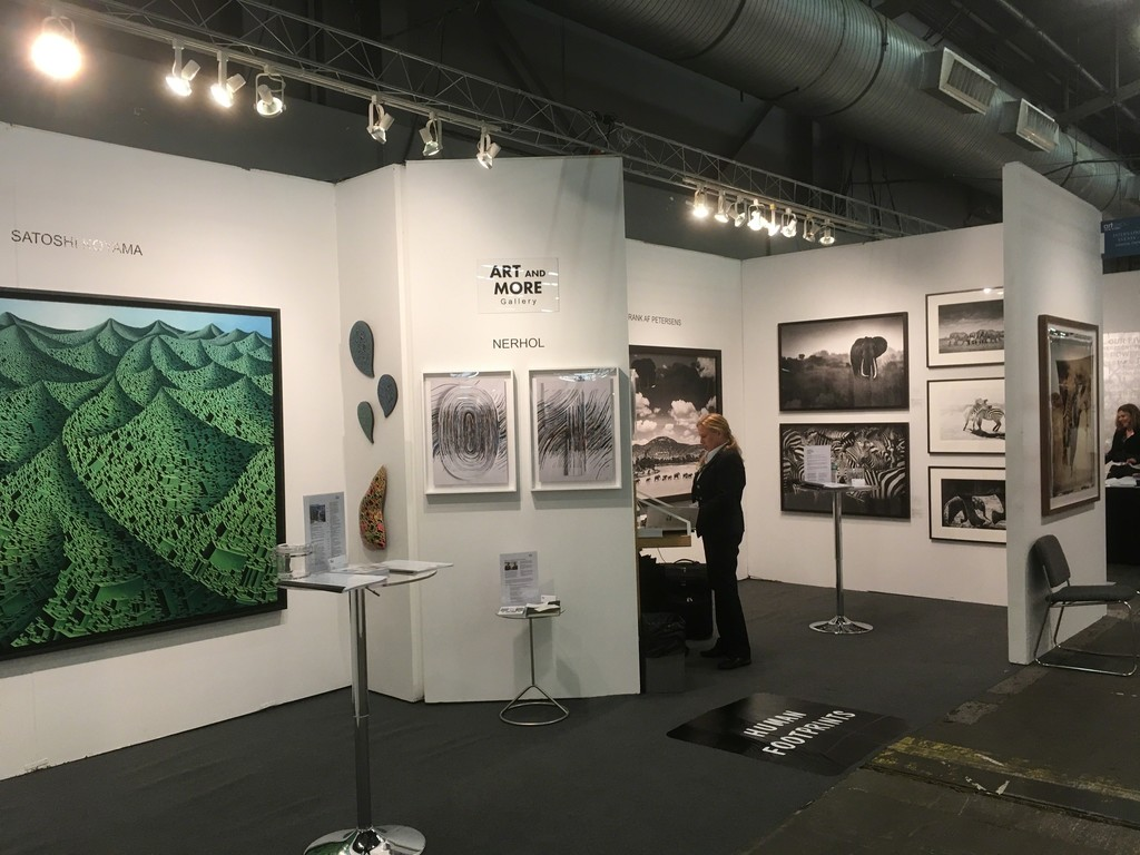 Time to open Booth #110: Art and More Gallery with Satoshi Koyama, Nerhol and Frank af Petersens at Artexpo New York 2017