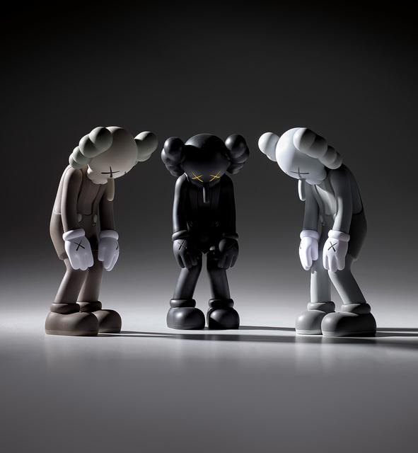 KAWS, 'Three works: (i) Small Lie (Brown); (ii) Small Lie (Black); (iii) Small Lie (Grey)', Phillips
