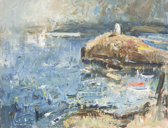 , 'Old Lighthouse & Moored Boats,' 2016, Thackeray Gallery
