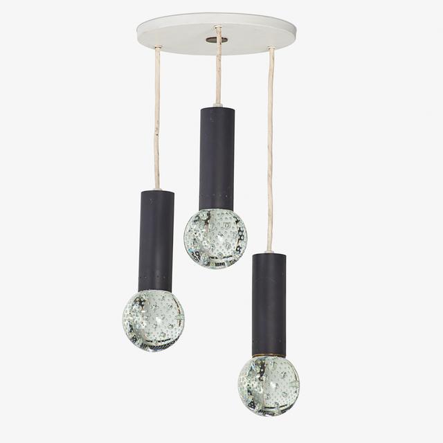 Gino Sarfatti, 'Set of three hanging pendant lamps, Italy', 1950s, Rago