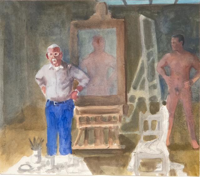 Paul Wonner, 'Artist and Model, Hands on Hips', 2002, Heather James Fine Art