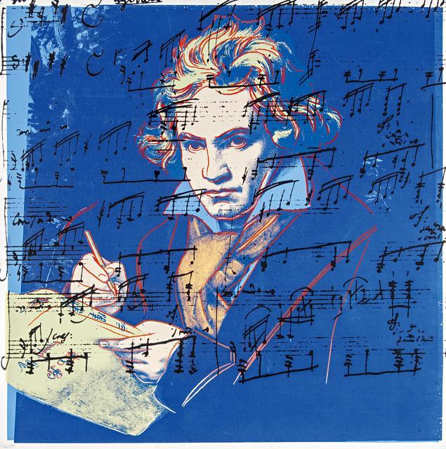 Andy Warhol, 'Beethoven', 1987, Print, Colour silkscreen on Lenox museum board, Van Ham