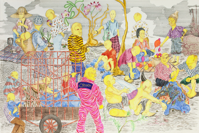 , 'Habibi Shingles Market,' 2016, Richard Koh Fine Art