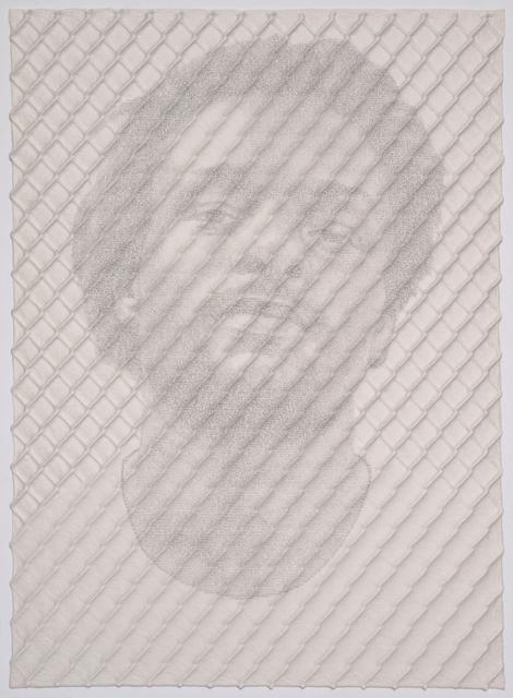 , 'Chain-link Fence Portrait (John),' 2017, Lora Reynolds Gallery