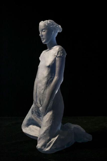 Nicolas Africano, 'Schiele (blue kneeling figure)', 2015, Nancy Hoffman Gallery