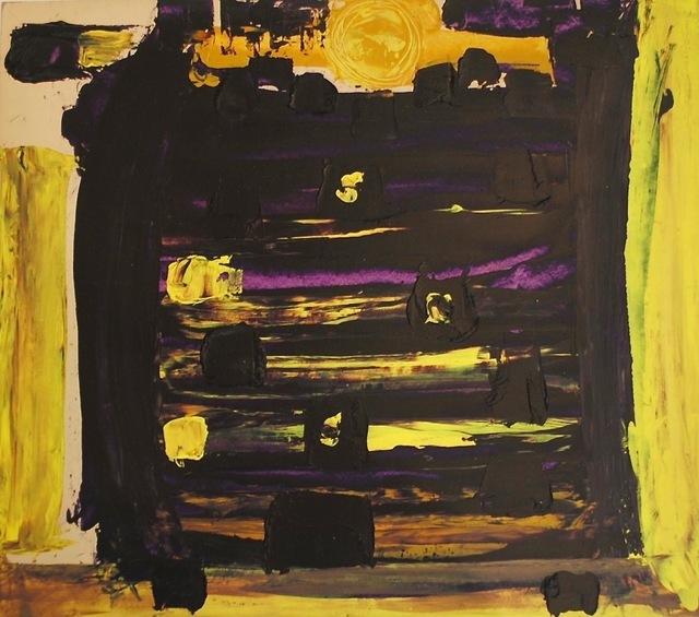 Dusti Bongé, 'Untitled (Purple and Yellow Abstract)', ca. 1975, Amanda Winstead Fine Art