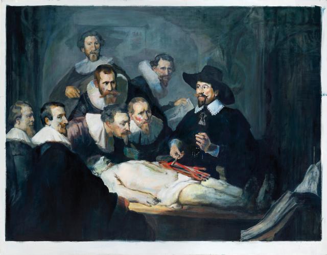 , '1_14 (Anatomie des Dr. Tulp),' 2014, kestnergesellschaft