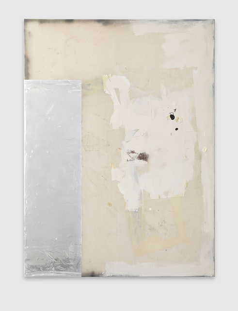 David Ostrowski, 'F (Jung, Brutal, Gutaussehend)', 2012, Painting, Oil, lacquer, adhesive foil and plastic on canvas, in artist's frame, Phillips