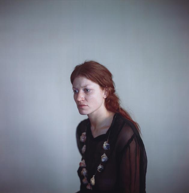 Richard Learoyd, 'Katie Black Dress with Eyes', 2014, Pace/MacGill Gallery