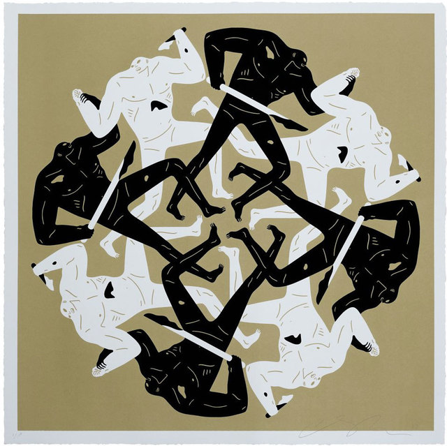 Cleon Peterson, 'Eclipse (Gold)', 2017, Black Book Gallery