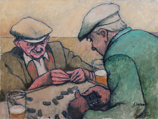 , 'Two men playing dominoes ,' ca. 1965, Castlegate House Gallery