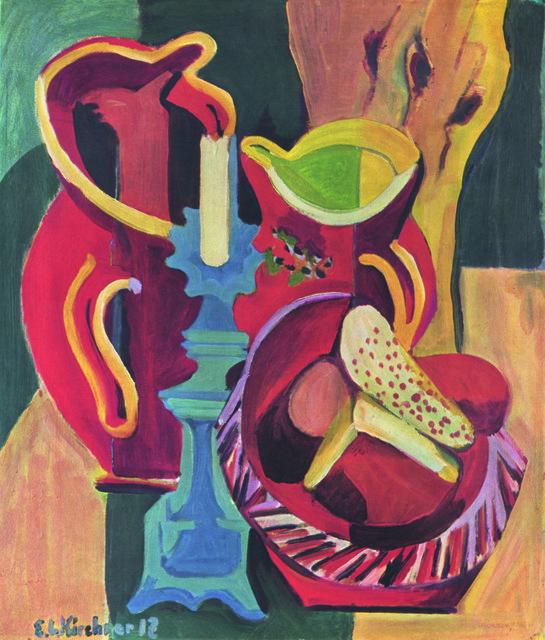 , 'Stilleben mit Krügen und Kerze (Still-life with Jugs and Candle),' 1918, Henze & Ketterer