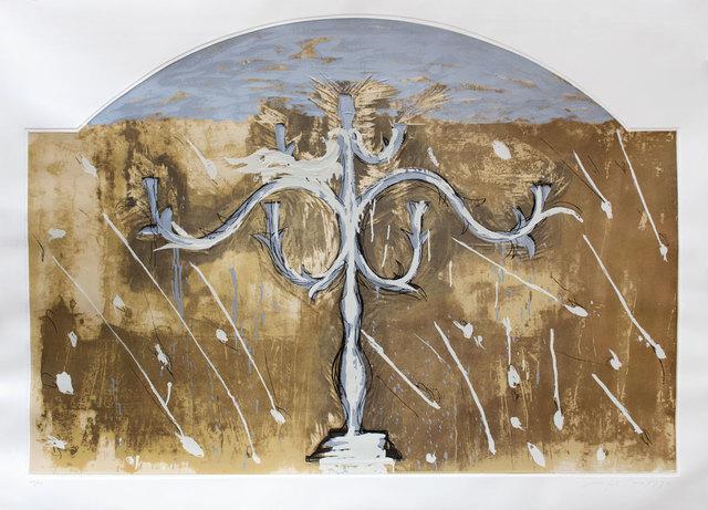 Mimmo Paladino, 'Saffo', 1990, Print, Screenprint, etching, carborundum and embossing, Goldmark Gallery