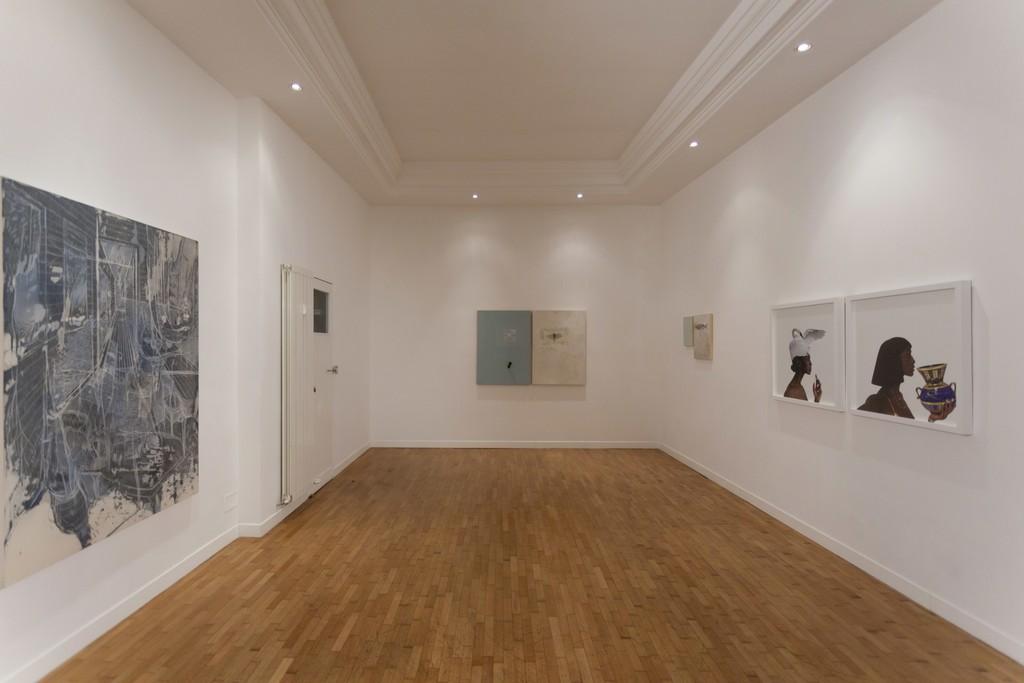 """Installation view """"Five Years"""" —  Federico Guerri, Loza Maléombho, Alessandro Procaccioli"""