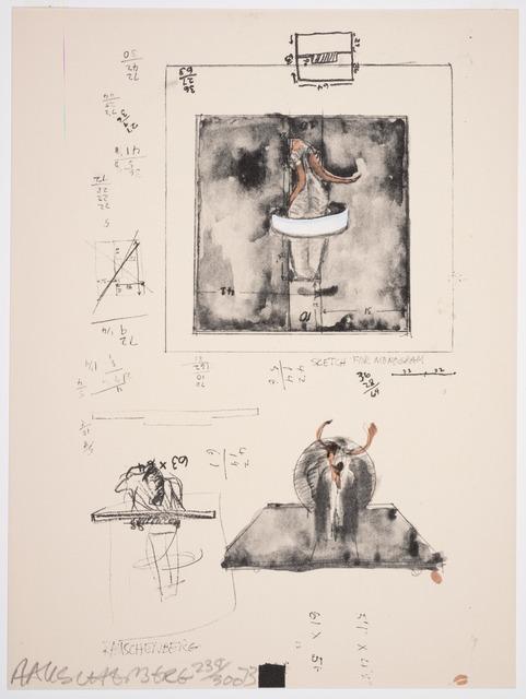 Robert Rauschenberg, 'Sketch for Monogram, 1959', 1973, Print, Lithograph and screen print, San Francisco Museum of Modern Art (SFMOMA)