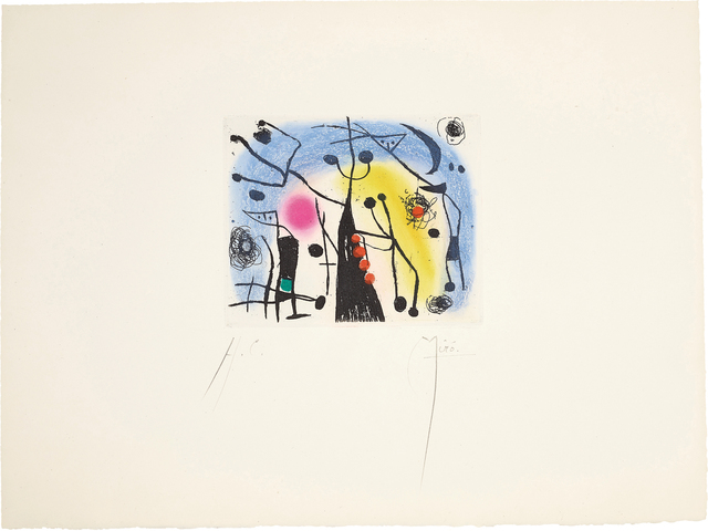 Joan Miró, 'Les magdaléniens (The Magdalenians)', 1958, Phillips