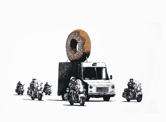 Banksy, 'Donuts (Chocolate) (Signed)', 2009, Prescription Art