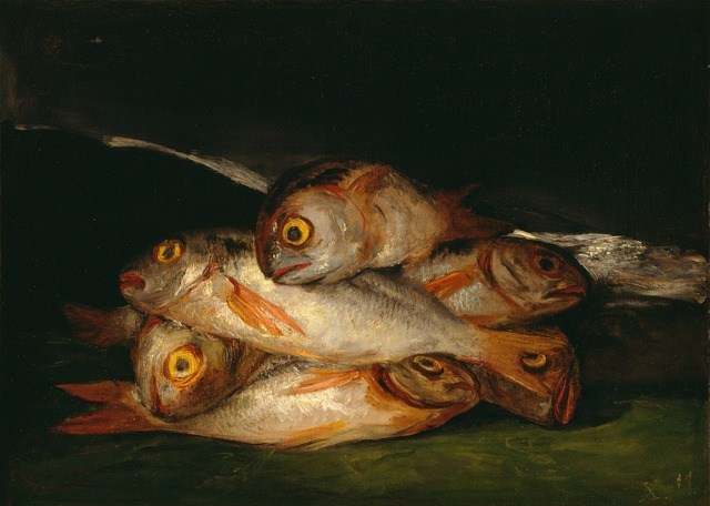 , 'Still Life with Golden Bream,' 1808-1812, Blanton Museum of Art