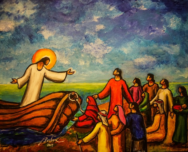, 'Jesus Preaching from the Boat 耶穌從船上教導,' , Artrue Gallery