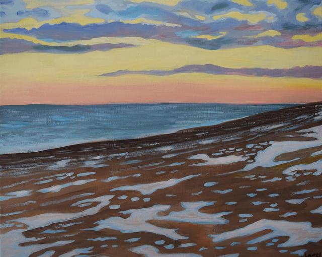 , 'Beach with Snow,' 2019, Fountain House Gallery