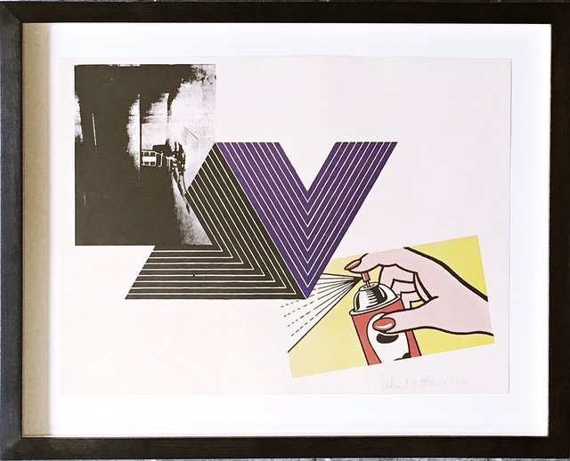 Richard Pettibone, 'The Appropriation Print: Andy Warhol, Frank Stella, Roy Lichtenstein', 1970, Print, Silkscreen in colors on smooth wove paper. Hand signed and dated in graphite pencil on the recto. Framed., Alpha 137 Gallery