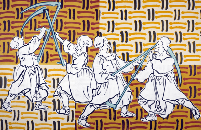 , 'Peasants fighting with scythes ,' 2017, Annely Juda Fine Art