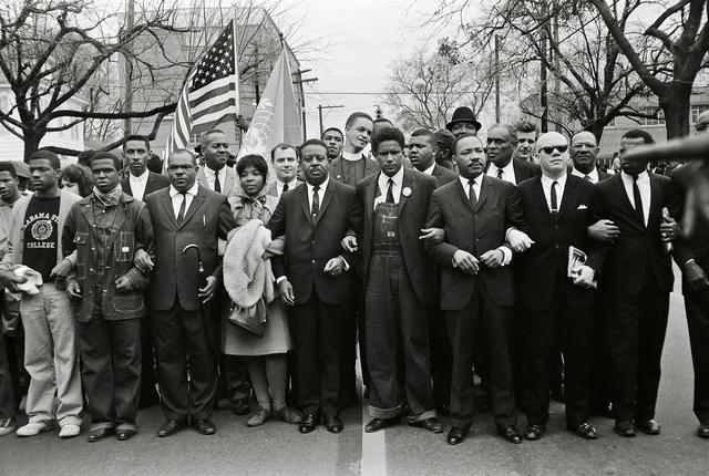 , 'Martin Luther King Jr. and Group Entering Montgomery,' 1965, Fahey/Klein Gallery