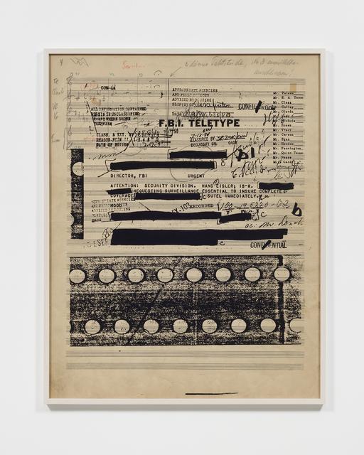 , 'Part File Score III,' 2014, Tanya Bonakdar Gallery