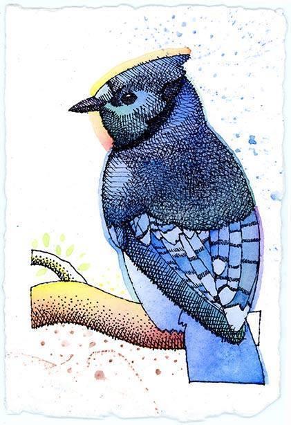 Ray-Mel Cornelius, 'Blue Jay', 2015, Painting, Acrylic on canvas, Ro2 Art