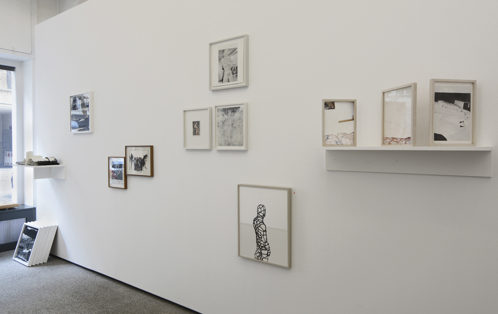 Straßen-Salon: works by Jan-Holger Mauss, Elmar Vestner, Susanne Pomrehn and Li Silberberg; photo: Jürgen Baumann