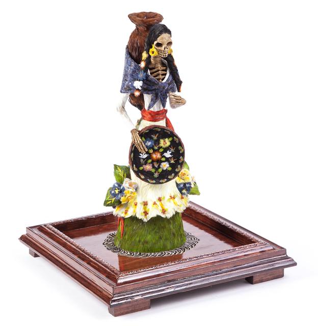 , 'Catrina Vendedora Mexican Folk Art Sculpture Featherwork and Ceramics,' 2017, Cactus Fine Art