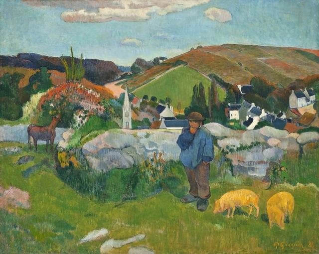 Paul Gauguin, 'The Swineherd', 1888, Los Angeles County Museum of Art